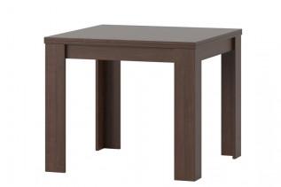 Štvorcový jedálenský stôl s rozkladom SATUR 40, višňa