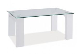 SKARLET konferenčný stolík, biely lesk