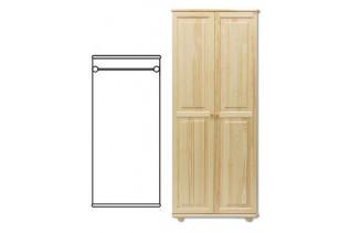 2-dverová šatná skriňa SF103, vnútro