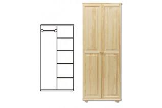 2-dverová šatná skriňa SF104, vnútro