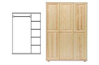 3-dverová šatná skriňa SF105, vnútro