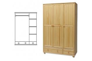 3-dverová šatná skriňa SF121, vnútro