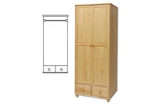 2-dverová šatná skriňa SF122, vnútro