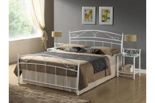 Kovová posteľ SEINA 120x200, biela
