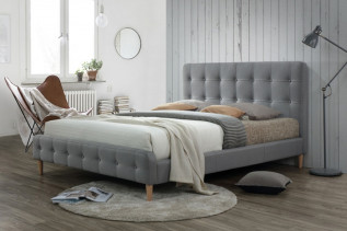 CELINA čalunená posteľ 160x200, zelená