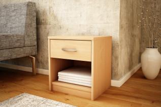 MAREK 026 nočný stolík so zásuvkou, buk