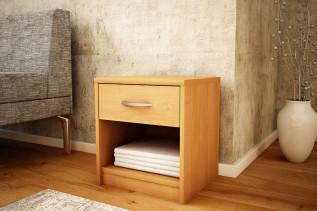 MAREK 026 nočný stolík so zásuvkou, jelša