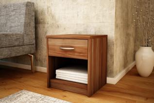MAREK 026 nočný stolík so zásuvkou, slivka walis