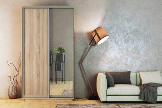 TARA skriňa s posuvnými dverami 150, sonoma/zrkadlo/sonoma