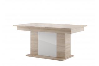 Rozkladací jedálenský stôl SMART 06, dub sonoma/biely lesk