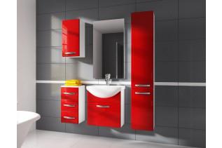 KORAL kúpeľňová zostava, červená