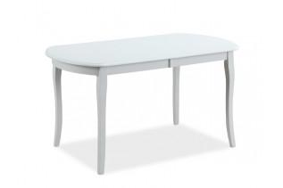 CASTELINO rozkladací jedálenský stôl 120x80 cm, biely matný