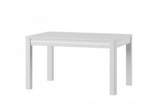 BUNNY 1 rozkladací jedálenský stôl, biely lesk