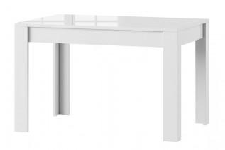 SYRIUS jedálenský stôl s rozkladom, biely lesk