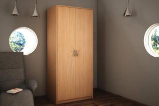 VILMA 2D 2-dverová skriňa s vešiakovou tyčou, jelša