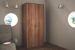 VILMA 2D 2-dverová skriňa s vešiakovou tyčou, slivka walis
