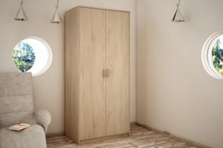VILMA 2D 2-dverová skriňa s vešiakovou tyčou, dub sonoma