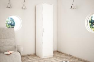 VILMA 1D 1-dverová skriňa s policami, biela