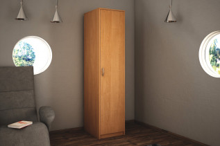 VILMA 1D 1-dverová skriňa s policami, jelša