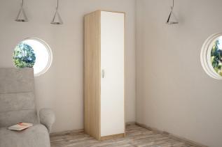 VILMA 1D 1-dverová skriňa s policami, dub sonoma/biela