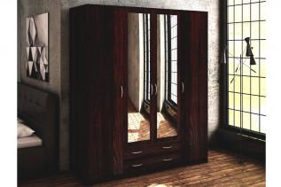 VILMA 4D 4-dverová skriňa so zrkadlom, wenge