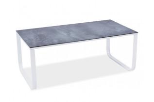 MAX II konferenčný stolík, šedý kameň/biele nohy