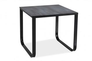 MAX D konferenčný stolík, šedý kameň/čierne nohy