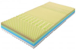 TEMKOOL VISCO sendvičový matrac 90 x 200, poťah Snow