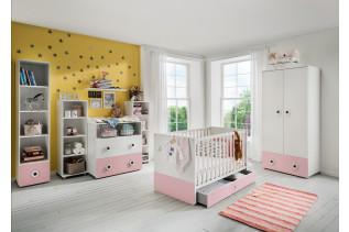 TEORIE detská izba na mieru, ružobá/biela