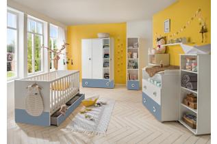 TEORIE detská izba na mieru, modrá/biela