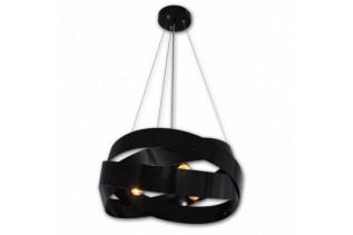 TORNADO stropný luster, čierny lesk