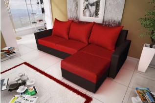MALGAN rohová sedačka červená/hnedá