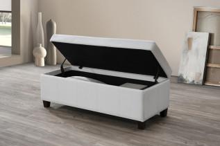 TRACK taburetka s úložným priestorom, biela