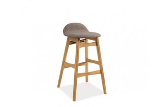 TRIDENT barová stolička, sivá