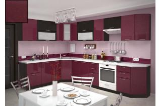 Kuchyňa na mieru VALENCIA granát metal/wenge korpus