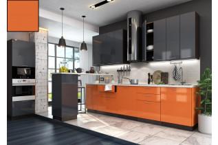 Kuchyňa na mieru VALENCIA oranžový lesk/korpus wenge