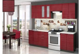 Kuchyňa na mieru VALENCIA RED STRIPE, korpus wenge