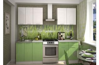 VEGAS kuchynská linka 180 zelený/biely metalic