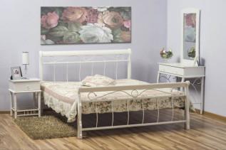 BENÁTKY posteľ 120x200 cm, biela/biela