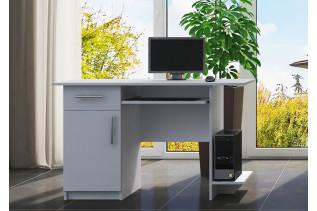 Pracovný stôl VEBER biely, ľavý