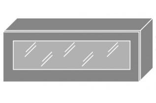 EMPIRIA horná vitrína W4BS/90 WKF, korpus biely