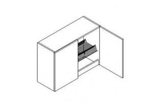 W80SU/58 horná skrinka s odkvapkávačom MORENO, picard