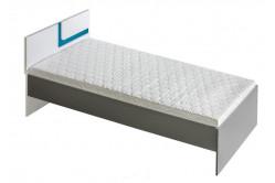 TITO single posteľ 90,  modrá