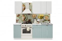 PROVENSAL 150 kuchynská zostava biele drevo/sv. modrá