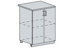 GRÉCKO 60 dolná 2 dverová, granát metalic, kor. biely