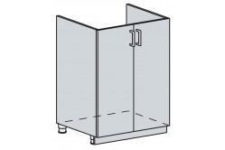 GRÉCKO 60 pod drez 2 dverová, granát metalic, kor. biely