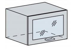 GRÉCKO 60 horný výklop se sklem, granát metalic, kor. biely