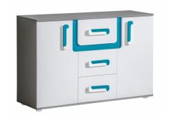 TITO kombinovaná komoda A7, modrá