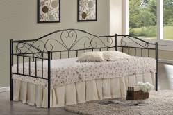 Kovová posteľ PALAWAN II, čierna VER- 0380