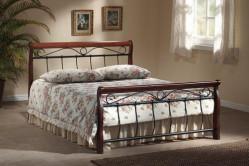 Benátky posteľ 2-OS, čerešňa antická/ čierny kov